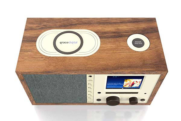 Grace Mondo+ Classic Internet Radio with WiFi, Bluetooth and Wireless Charger