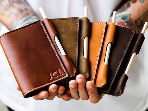 Handmade Customizable Refillable Leather Notepad