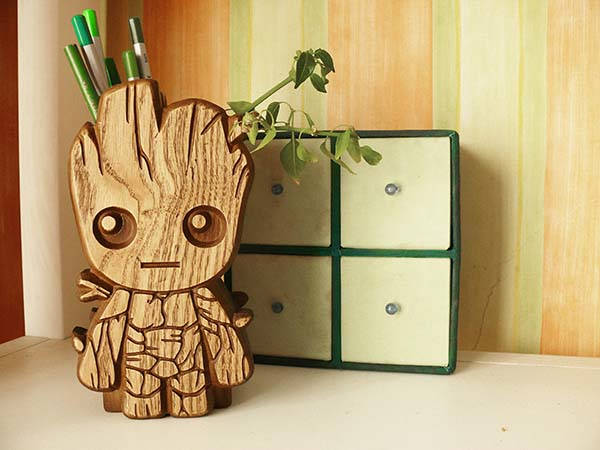 Guardians of the Galaxy Baby Groot Wooden Pencil Holder