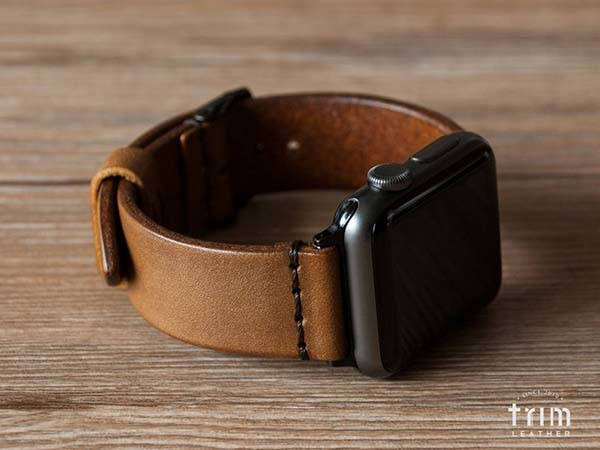 Handmade Minimalist Customizable Leather Apple Watch Band