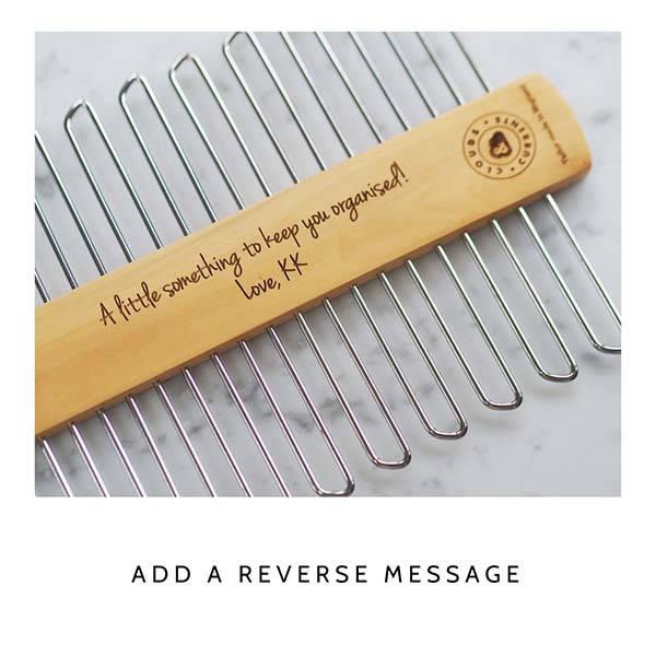 Handmade Personalized Wooden Tie Hanger