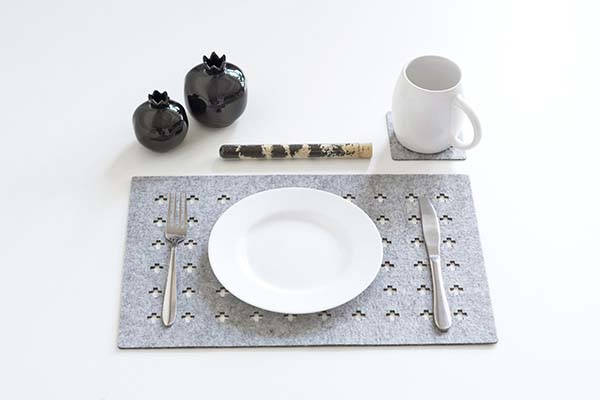 Handmade Rectangle Felt Placemats