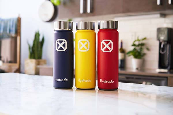 Hydrade Double Wall Smart Water Bottle Powered by Solar Panel