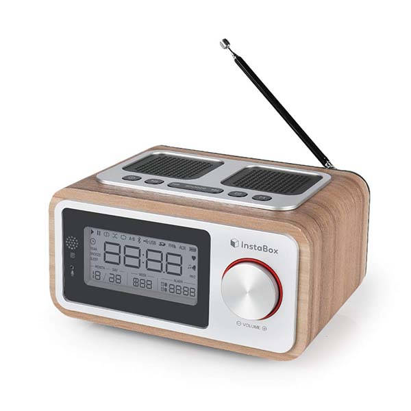 InstaBox i30 Retro FM Radio with Bluetooth Speaker