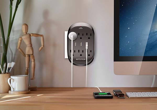 KPSTEK Wall Outlet Extender with USB Ports