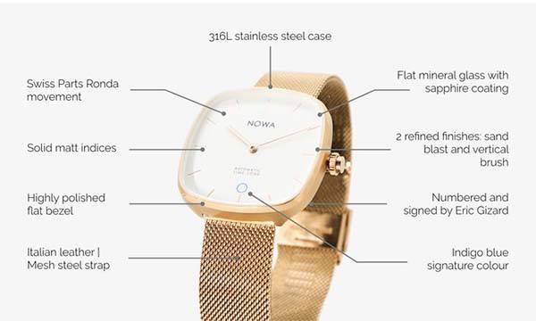 NOWA Superbe Hybrid Smartwatch with Fitness Tracker