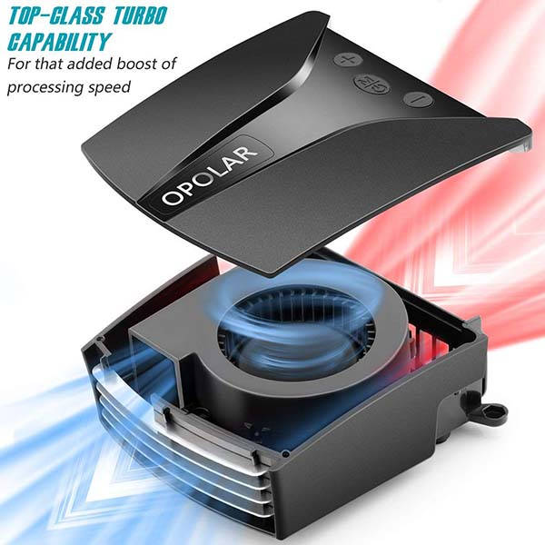 Opolar LC-06 Laptop Cooling Fan with Temperature Display