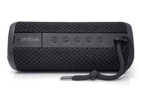 Photive Hydra 2 Portable Waterproof Bluetooth Speaker with Dual Subwoofers