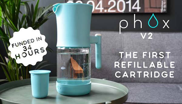 Phox V2 Eco Friendly Water Filter with Refillable Cartridges