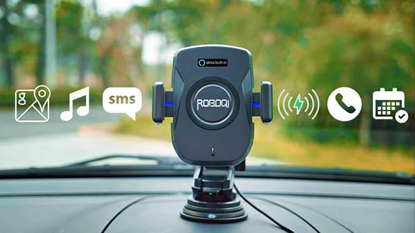 Roboqi 2.0 Alexa Smart Car Mount with Wireless Charging Pad