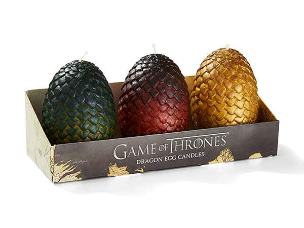 Game of Thrones Dragon Egg Candle Set