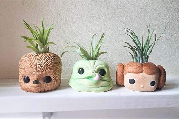 Handmade Star Wars Air Plant Holders