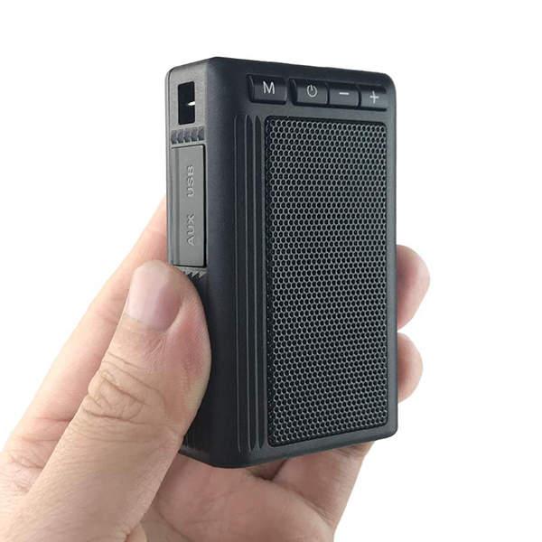 Leaglee GT08 Mini waterproof Bluetooth Speaker with MP3 Player, FM Radio and Flashlight