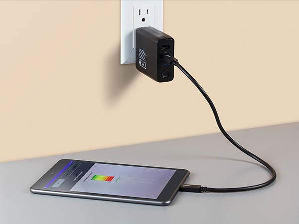 Monoprice USB-C Wall Charger with Power Bank Built-in