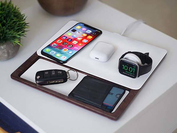 NytStnd Tray 3 Handmade Wireless Charging Station