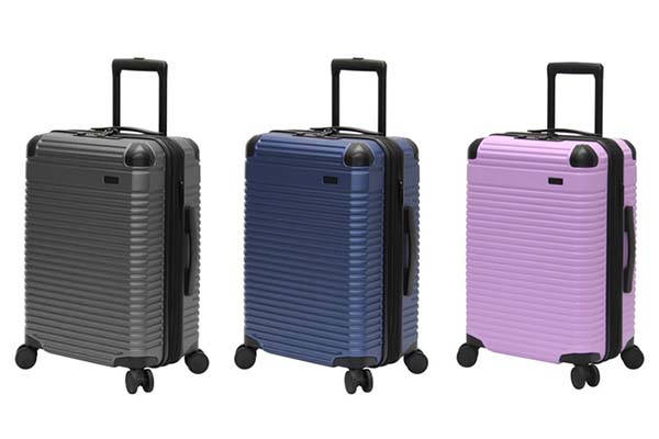 Optimus Hard-Case Luggage with USB Port, Corner Protectors and More