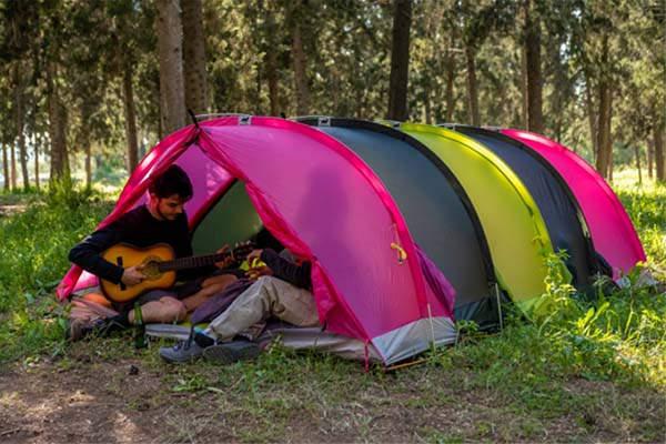 RhinoWolf 2.0 Modular Tent with Air Mattress and Sleeping Bag