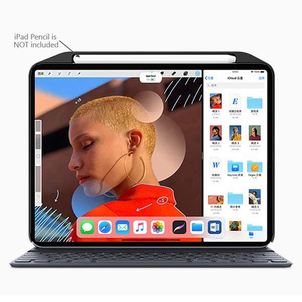 SwitchEasy CoverBuddy iPad Pro Case Perfectly Compatible with Smart Keyboard and Smart Cover
