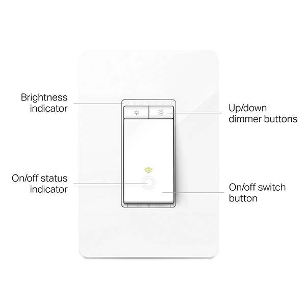 TP-Link Kasa HS220 Smart WiFi Light Switch Compatible with Alexa, Google Assistant and Cortana