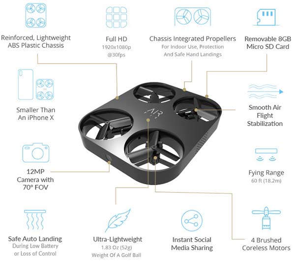 Air Pix Pocket-Sized Mini Camera Drone