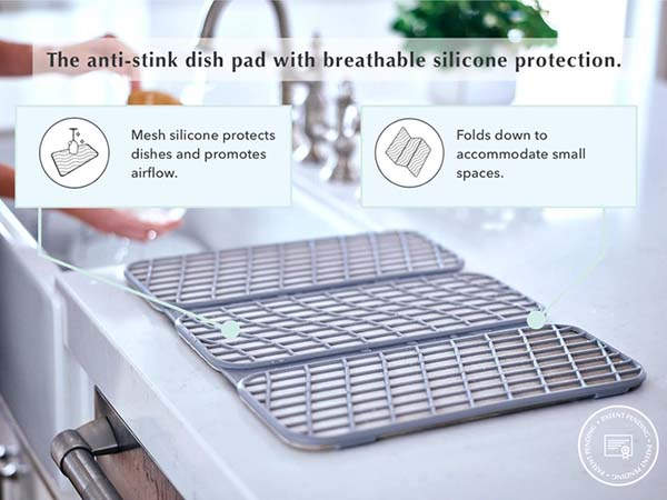 Dorai Mold-Free Self-Drying Dish Rack and Pad
