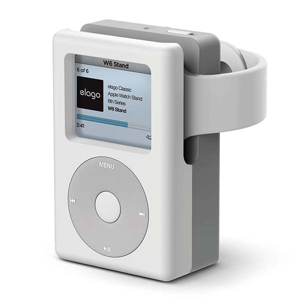 Elago W6 Apple Watch Stand Inspired by iPod Classic