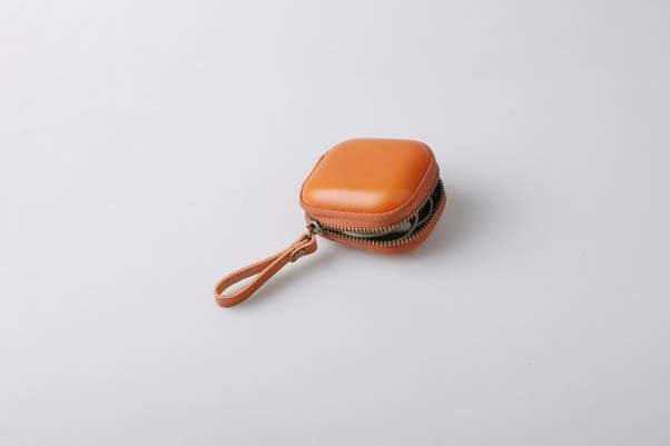 Handmade Leather Earbud Case with Multiple Optional Colors