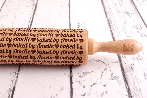 Handmade Personalized Embossed Rolling Pin