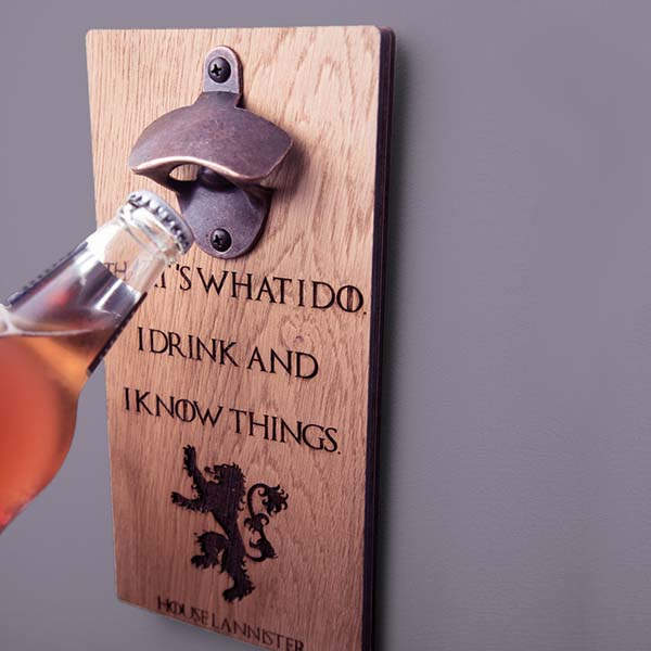 Handmade Personalized Game of Thrones Bottle Opener
