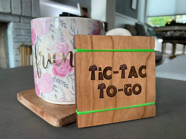 Handmade Wooden Tic-Tac-Toe Set