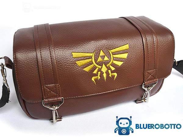 Handmade Zelda Leather Nintendo Switch Bag