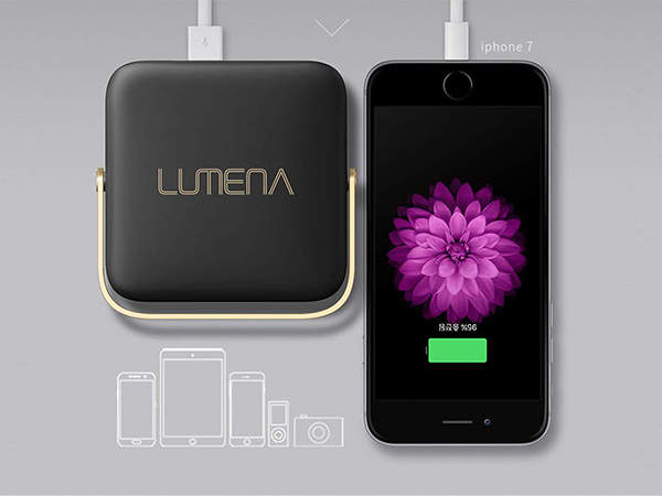Lumena Portable LED Camping Light with Power Bank