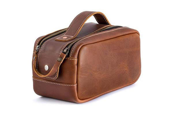 Pad&Quill Heritage Leather Dopp Kit