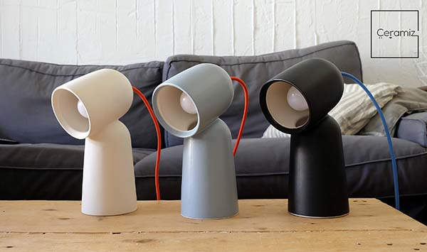 Selfie Handmade Dual-Toned Ceramic Table Lamp