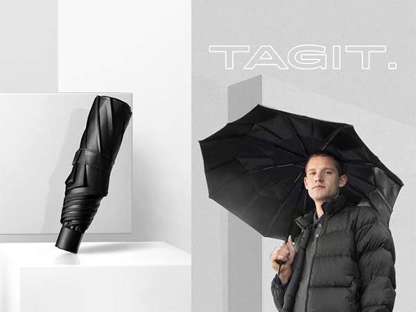 TAGIT Foldable Umbrella Never Collapses into a Mess