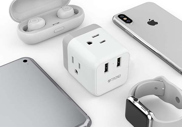 Trond Cruise Outlet Extender with USB Wall Charger