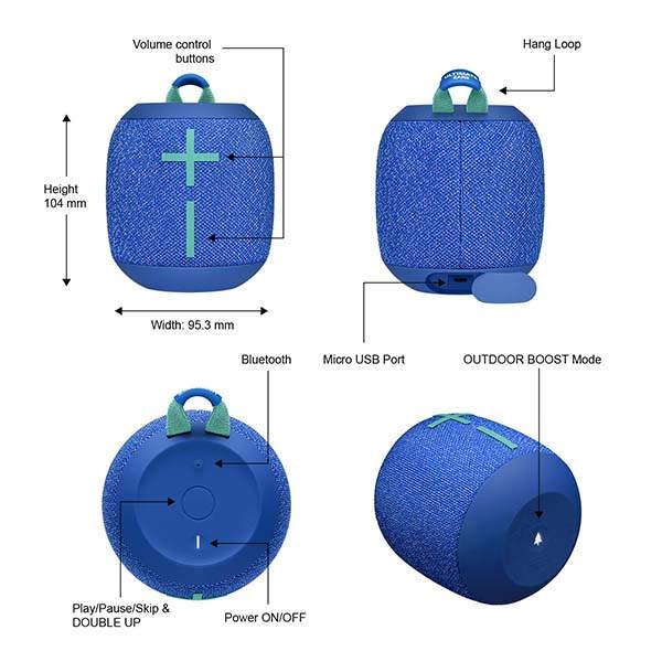 Ultimate Ears Wonderboom 2 Portable Waterproof Bluetooth Speaker