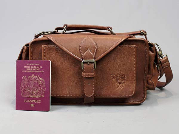 Vagabond Handmade Personalized Leather Camera Bag