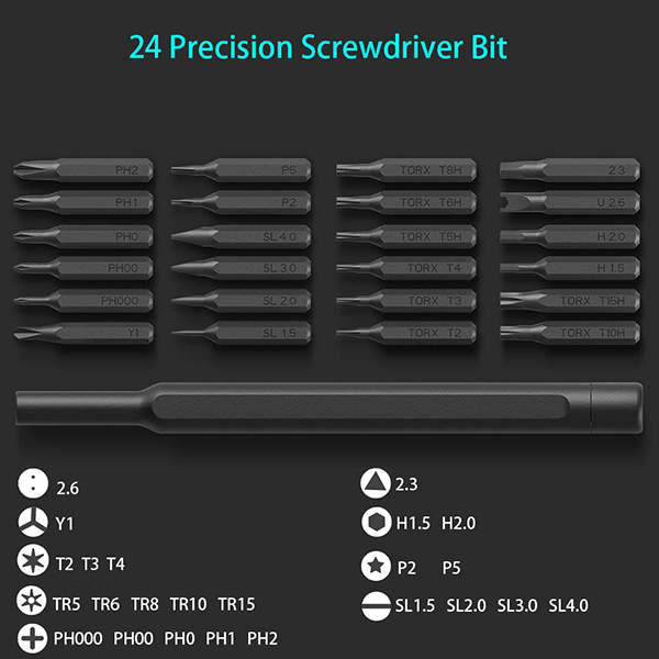 Xiaomi Wiha Precision Screwdriver Set with 24 Magnetic Driver Bits