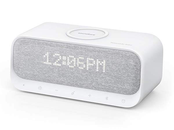 Anker Soundcore Wakey Bluetooth Speaker with Alarm Clock, Wireless Charger, FM Radio and More