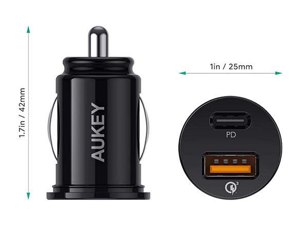Aukey USB-C Car Charger with 21W Power Delivery