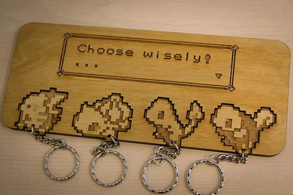 Choose Wisely Handmade Pokemon Keyrings and Wall Mount