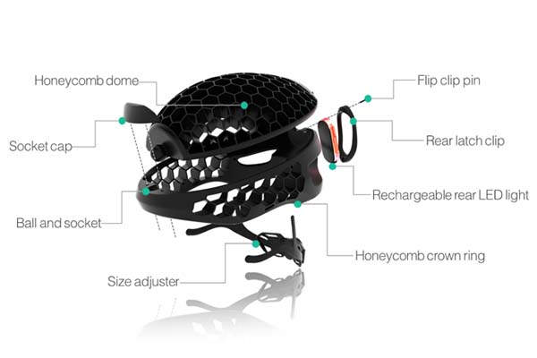 Cyclo Packable Bike Helmet Made with Recycled Plastic