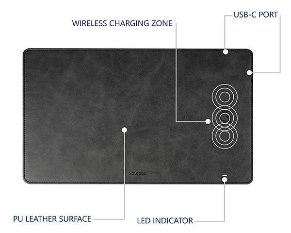 GazePad Pro 10W Wireless Charging Mouse Pad