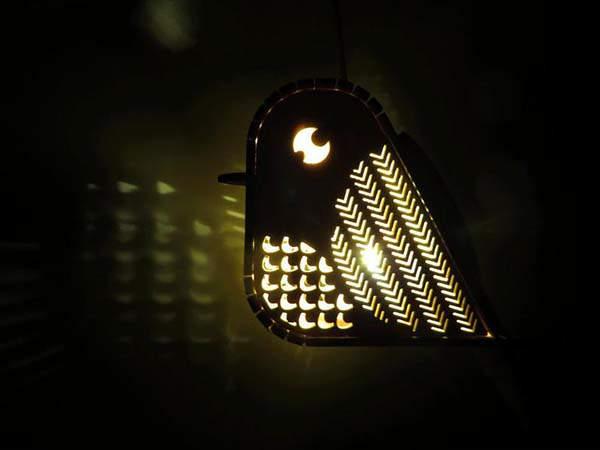 Handmade Bird Shaped LED Tea Light Holder