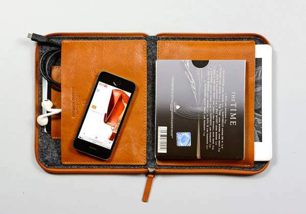 Handmade Kindle Leather Travel Case