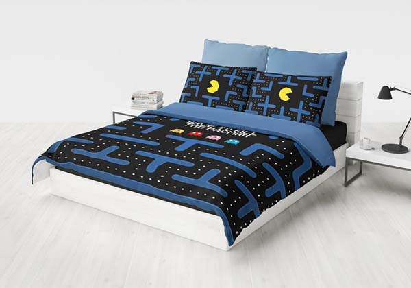 Handmade Pac-Man Duvet Cover Set