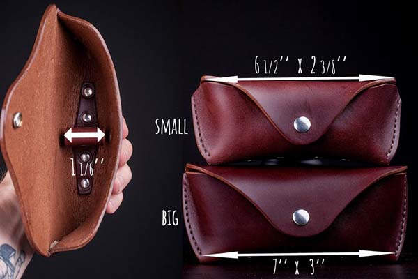 Handmade Personalized Leather Sunglasses Case