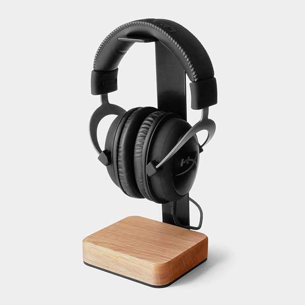 Handmade Steel and Wooden Headphone Holder