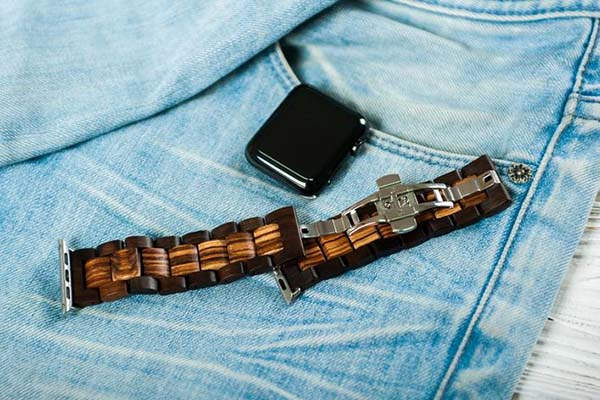 Handmade Wood Apple Watch Band